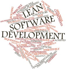 Word cloud for Lean software development