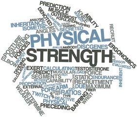 Word cloud for Physical strength