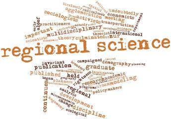 Word cloud for Regional science