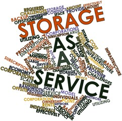 Word cloud for Storage as a service