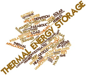 Word cloud for Thermal energy storage