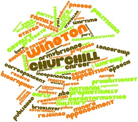 Word cloud for Winston Churchill