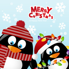 Merry Christmas two penguins