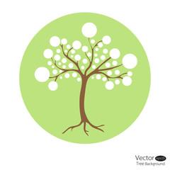 Abstract circle tree. Vector Illustration.