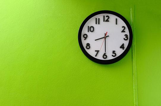 Clock showing 8:30 o'clock