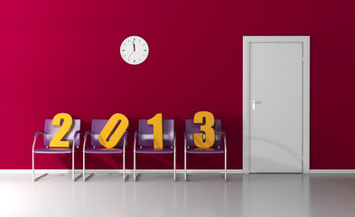 New year 2013 in the waiting room