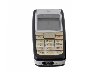 Antiques, old cellular(mobile) phone. Isolated