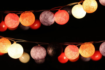 colorful light bulbs