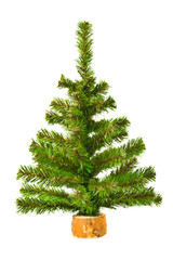 Artificial Christmas tree on a white background