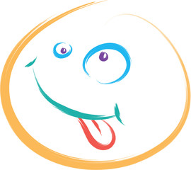 doodle smile funny vector