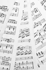 Background of several pages with music notes