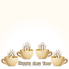 new year 2013 creative design with coffee cup