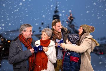 familie weihnachtsmarkt