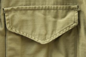 Pocket of military uniform