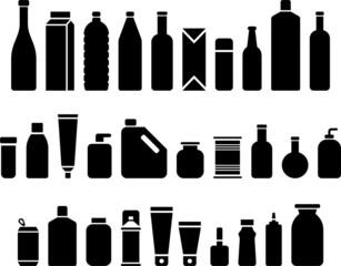 Obraz Bottles & Packaging icons - fototapety do salonu