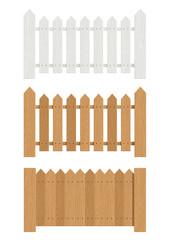 wooden fence set of vector illustration EPS10. Transparent