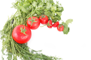 tomatoes and herbs for healthy food