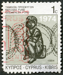 CYPRUS - 1994: shows Child and Barbed Wire