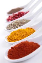 Fotorolgordijn Kruiden assortment of spices