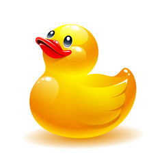 Rubber duck vector icon