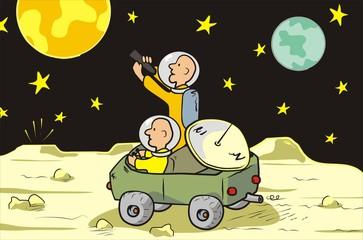 Garden Poster Cosmos moon rover