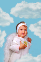 little angel amoung the clouds
