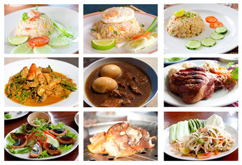 Photographs Collection of Thai food.