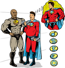 Papiers peints Comics Super training