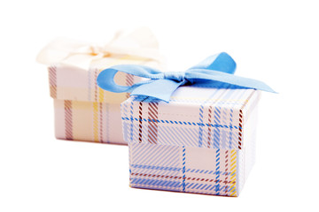 Gift box with bow silk.