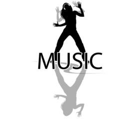 silhouette femme dansant