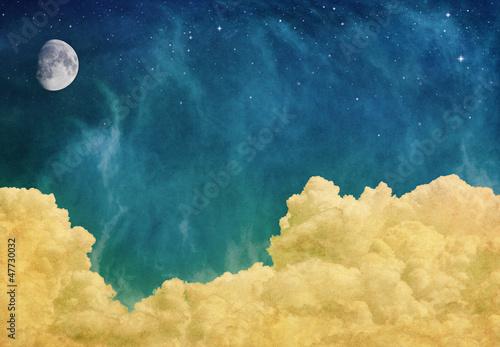 Wall mural Magic Moon and Clouds