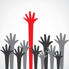 hand raise up stock vector