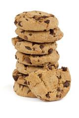 Cookies auf weissem Hintergrund