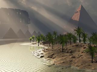 Grim fantasy landscape
