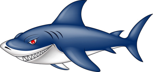 angry blue shark
