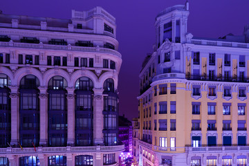 Classic Arquitecture in Madrid by Night