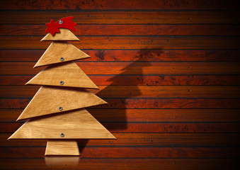 Wooden and Stylized Christmas Tree