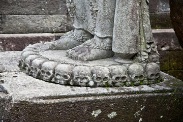Stone craft  in Candi Penataran temple in Blitar,  Indonesia.