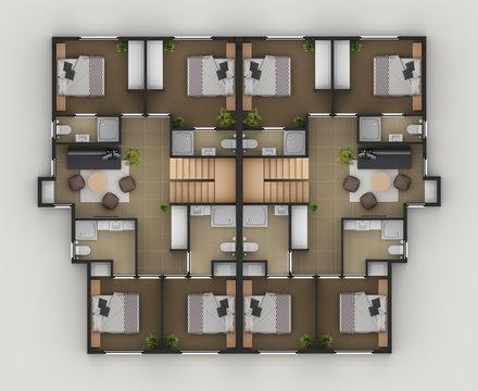 Floor Plan Of Residential House1