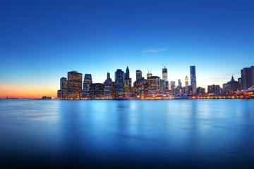 Fotomurales - Lueur crépusculaire sur New York.