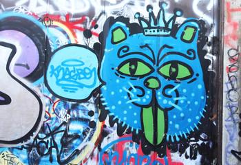 Street art - King lion
