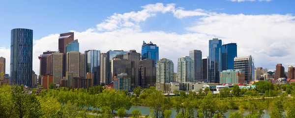 The City of Calgary Skyline at Sunrise