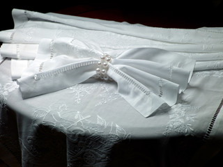 cloth on the empty table