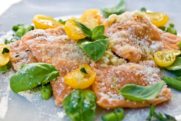 food ravioli wity spinach
