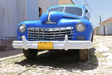 Photo sur Aluminium Voitures de Cuba old american road cruiser