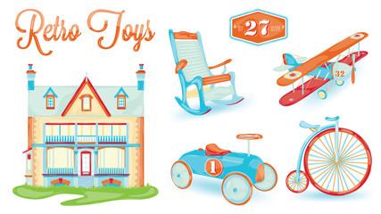 Retro toy icon