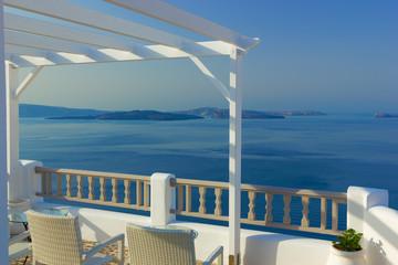 Balcony on the island of Santorini