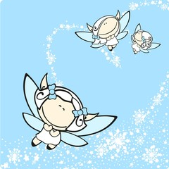 Canvas Prints Heaven Snow fairies