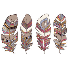 Ethnic Indian feathers plumage background