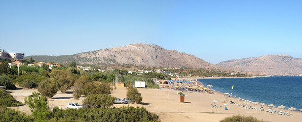 Kiotari - tourist resort on the south coast of  Rhodes, Greece.